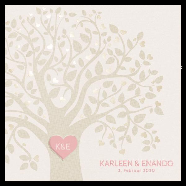 Hochzeitseinladung Baum der Liebe