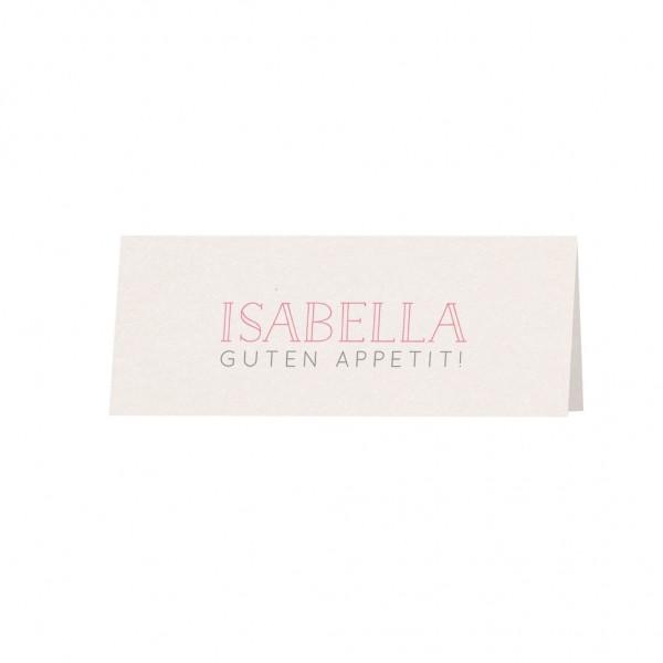Tischkarte Basic Ivory