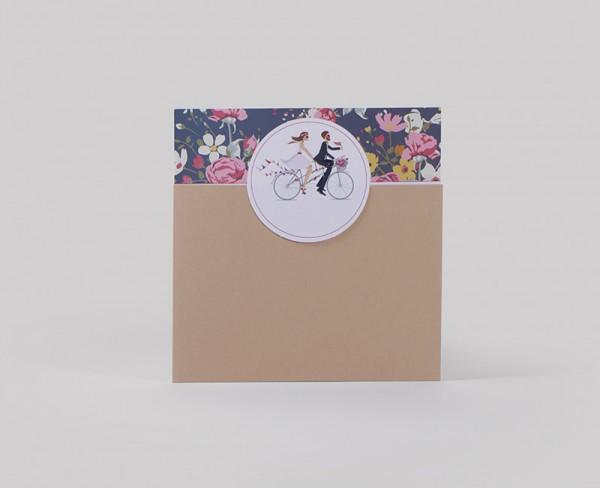 Hochzeitskarte Vélo