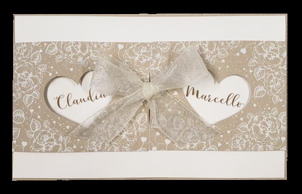Hochzeitskarte - Zwei Herzen