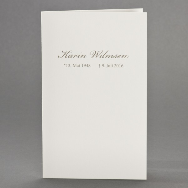 Trauerkarte Blanko Doppelkarte Variante 1 inkl. passendem Briefumschlag