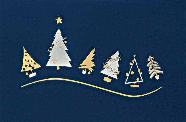 """Weihnachtskarte """"Weihnachtsbäume"""""""