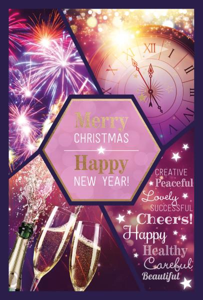 """Weihnachtskarte """"Happy New Year"""""""