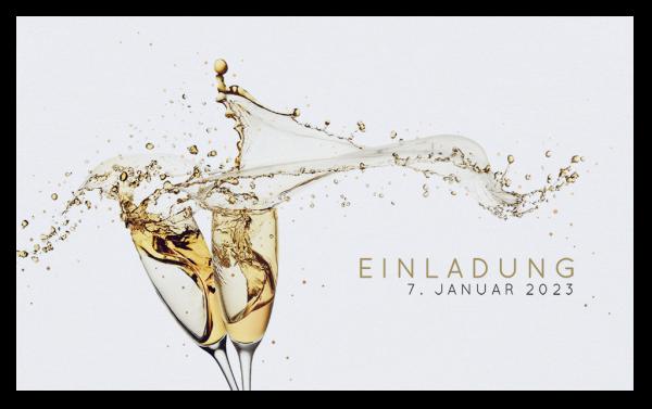 Einladung - Champagnergläser