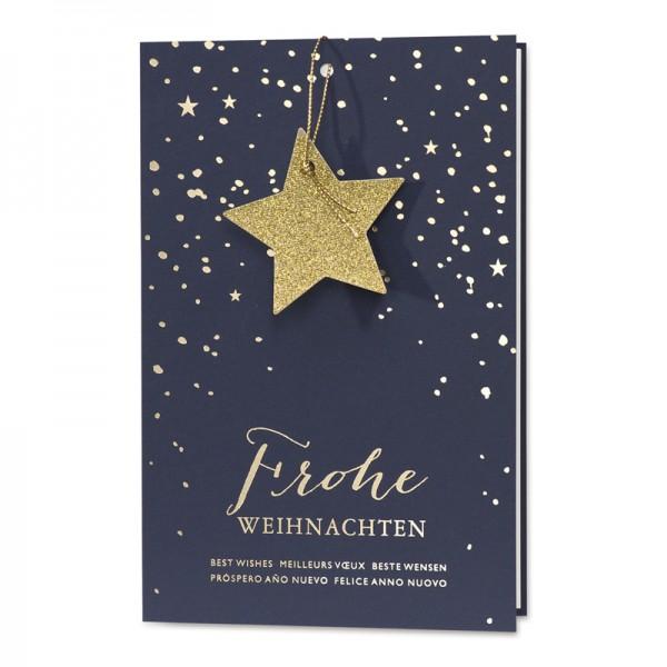"""Weihnachtskarte """"Schneetreiben"""""""