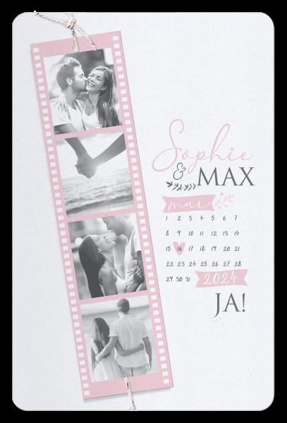 Hochzeitskarte - Filmstreifen