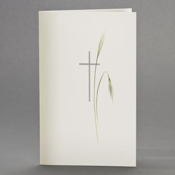 Doppelkarte mit Schattierung, sowie Kreuz mit Ähren inkl. passendem Briefumschlag
