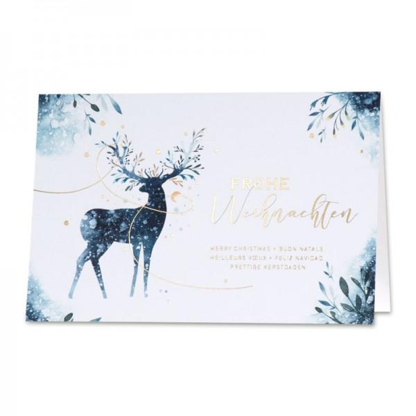 """Weihnachtskarte """"Hirsch"""""""