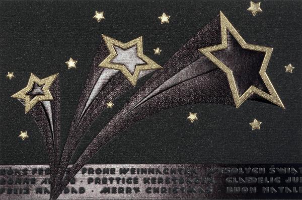 "Weihnachtskarte ""Goldene Sterne"""
