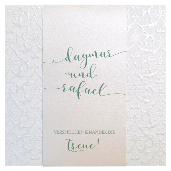 Hochzeitseinladung – Barockes Relief