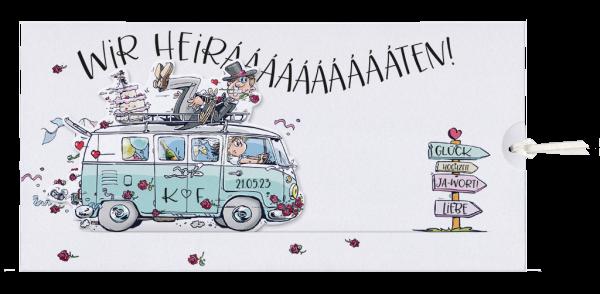 Hochzeitseinladung – VW Bus