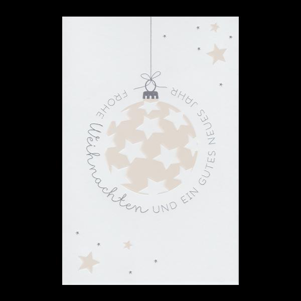 """Weihnachtskarte """"Mit Sternen besetzte Weihnachtskugel"""""""