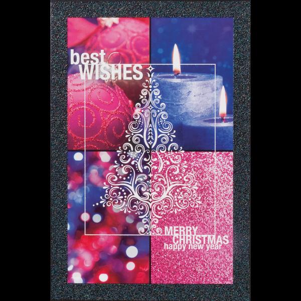 """Weihnachtskarte """"Stimmungsvolle Bilder mit Glitzerrahmen und Weihnachtsbaumtatoo"""""""
