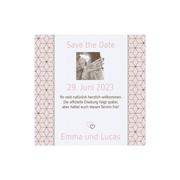 Save-the-Date-Karte I Love You