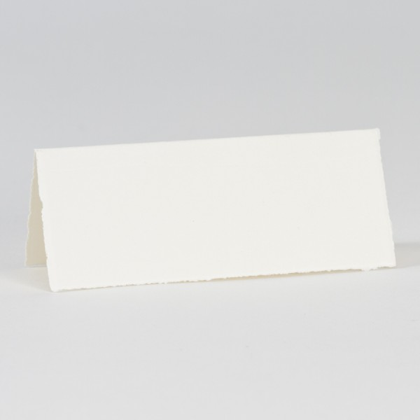 Cremefarbige Tischkarte aus Büttenpapier
