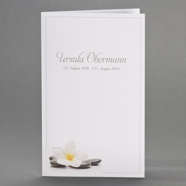 Doppelkarte mit Orchideenblüte und Steinen inkl. passendem Briefumschlag