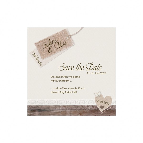 Save-the-Date-Karte Landliebe