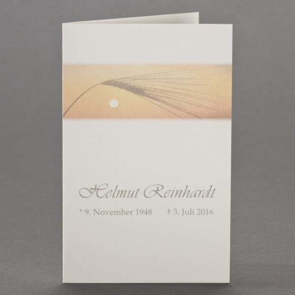 Trauerbild mit Korn im Sonnenuntergang zu 1-Nutzen inkl. passendem Briefumschlag