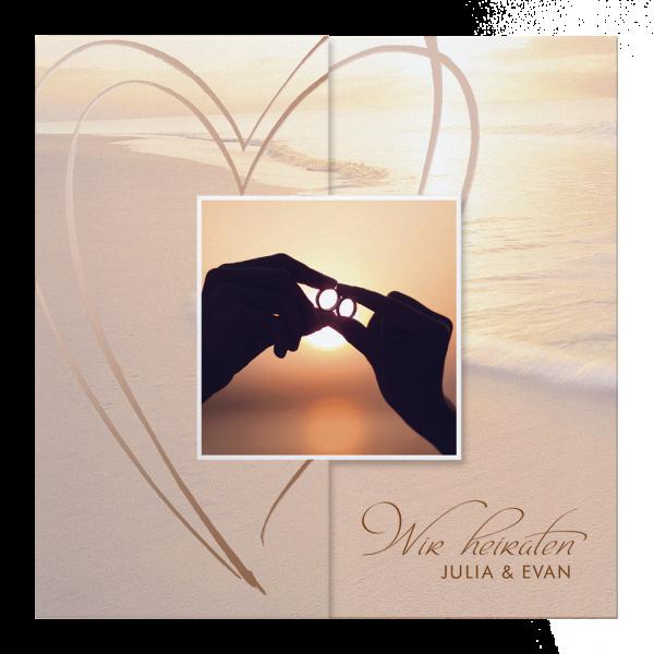 Hochzeitseinladung – Sonnenuntergang