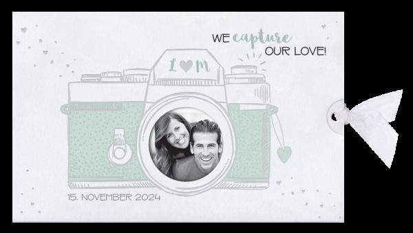 Hochzeitskarte - Fotoapparat