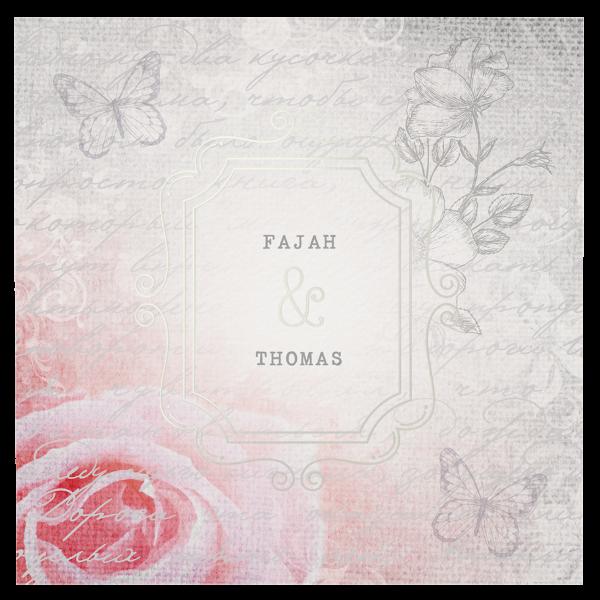Hochzeitseinladung Romantische Rose