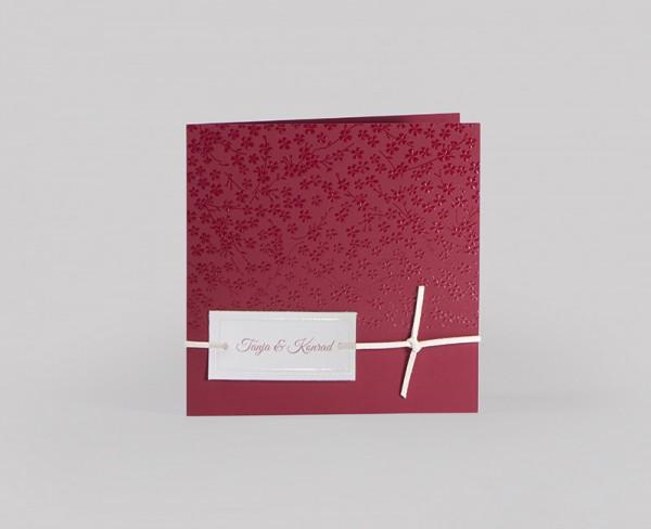 Hochzeitskarte Red Gloss