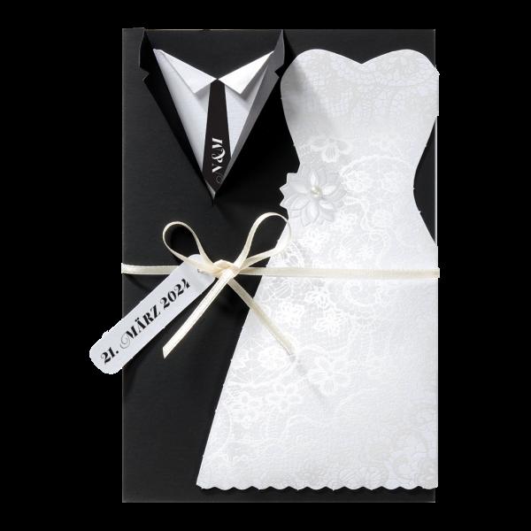 Hochzeitskarte - Braut & Bräutigam