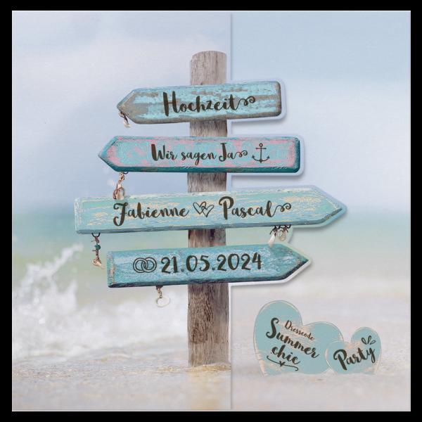 Hochzeitskarte - Strand