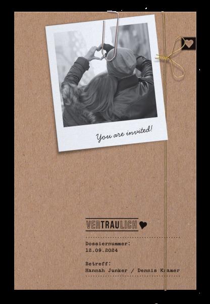 Hochzeitskarte - Hochzeitsmappe