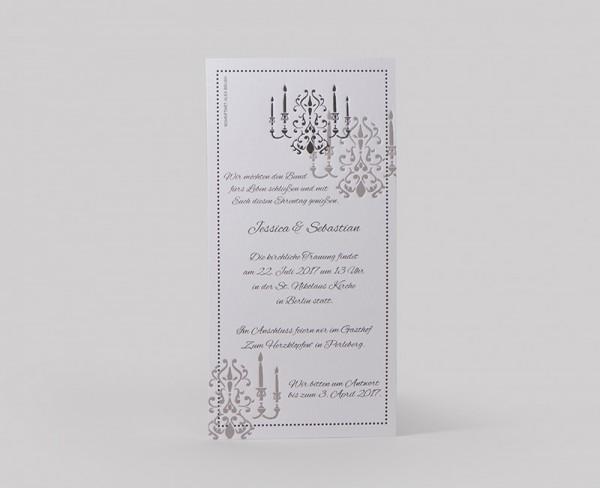 Hochzeitskarte Chandelier V2