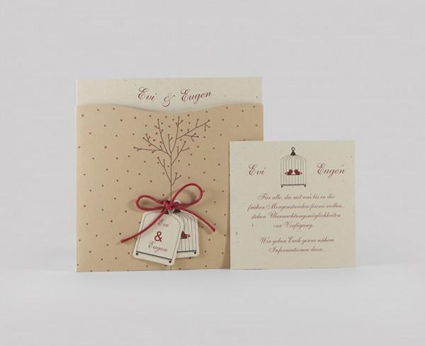 Hochzeitskarte - Liebesbaum
