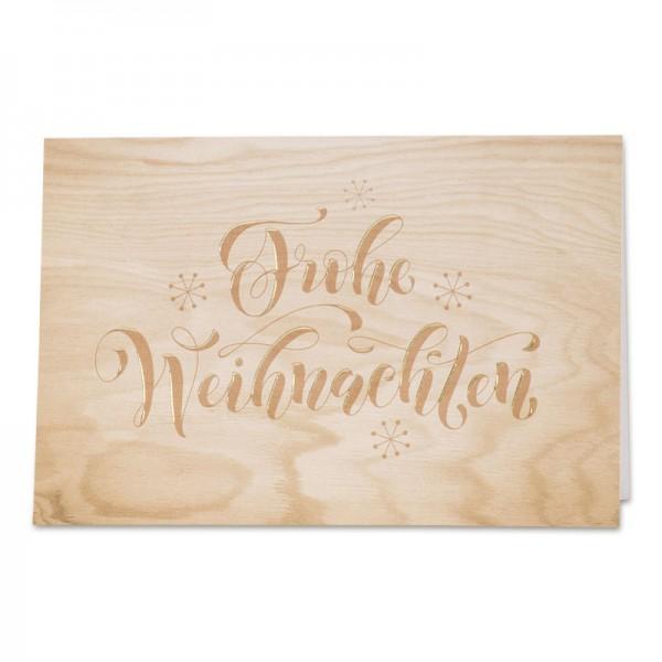 """Weihnachtskarte """"Wood"""""""