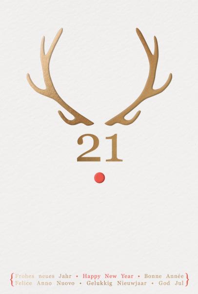 """Weihnachtskarte """"Rentier 2021"""""""