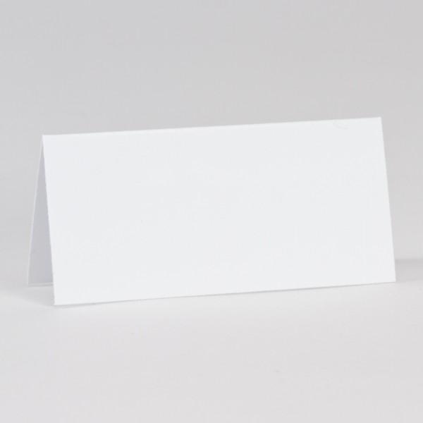 Weiße Tischkarte