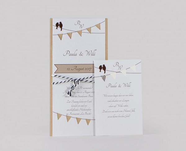 Hochzeitskarte - Lovebirds