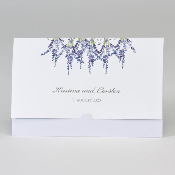 Taschenlook-Design mit Lavendel Motiv