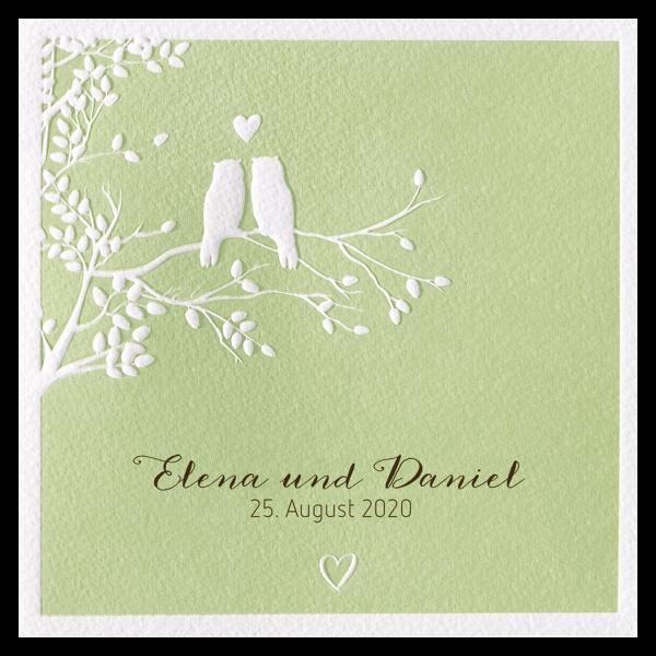 Hochzeitskarte Klein aber Fein