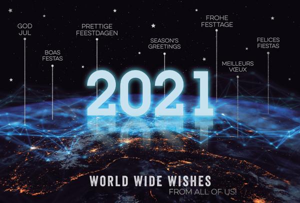 """Weihnachtskarte """"World Wide Wishes"""""""