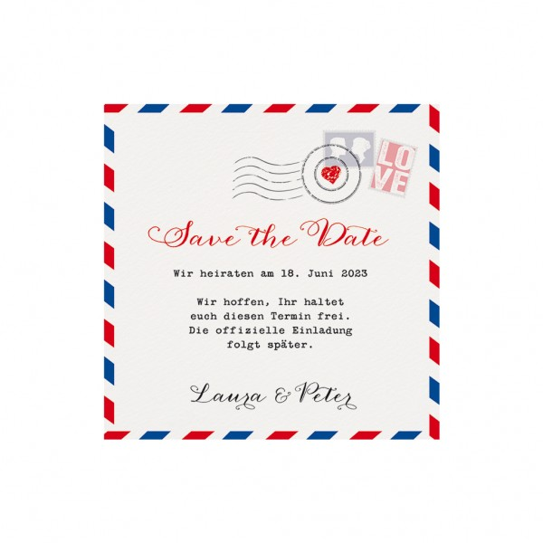 Save-the-Date-Karte Liebespost