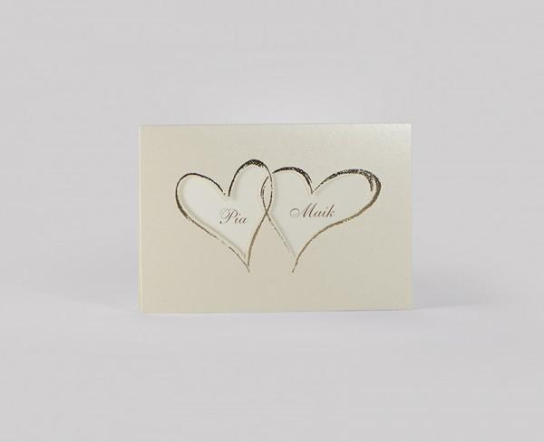 Hochzeitskarte - 2 Hearts