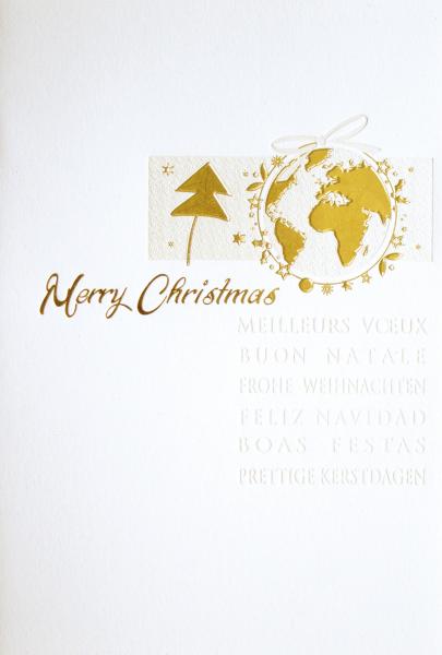 """Weihnachtskarte """"Goldene Weltkugel"""""""