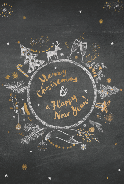 """Weihnachtskarte """"Kranz mit Weihnachtssymbolen"""""""