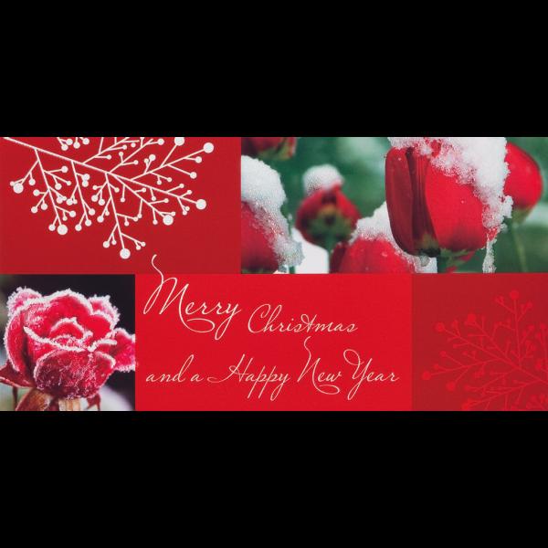 """Weihnachtskarte """"Rote Rosen"""""""