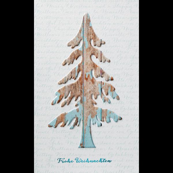 """Weihnachtskarte """"Relief in Holzoptik"""""""