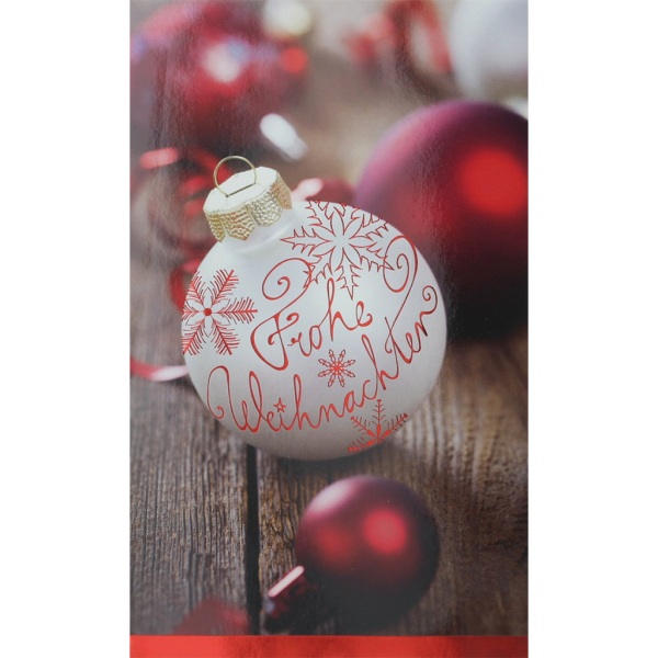 """Weihnachtskarte """"Frohe Weihnachten"""""""