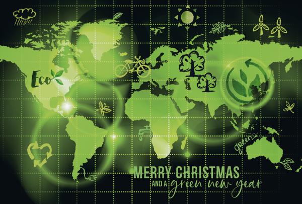 """Weihnachtskarte """"Öko-Welt"""""""