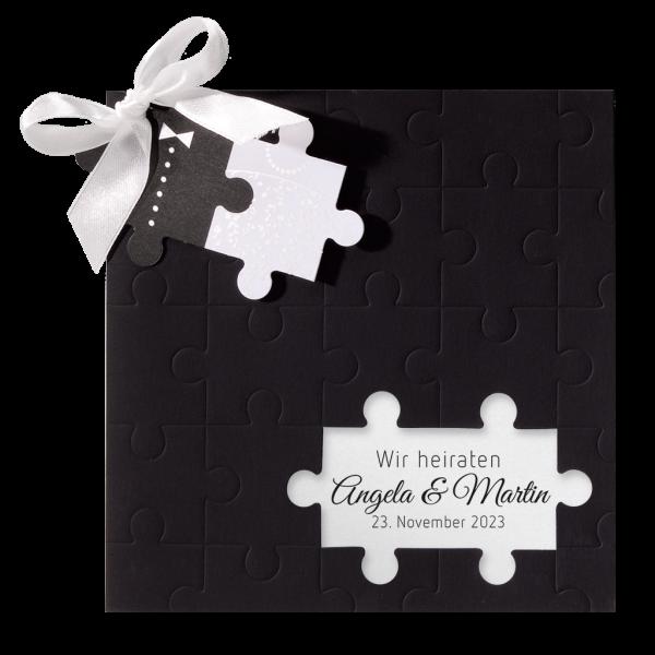 Hochzeitskarte – Puzzle