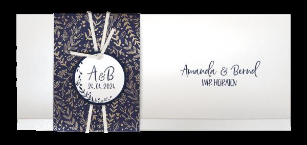 Hochzeitskarte- Goldene Zweige