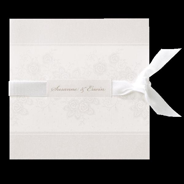 Hochzeitskarte – Blumendruck