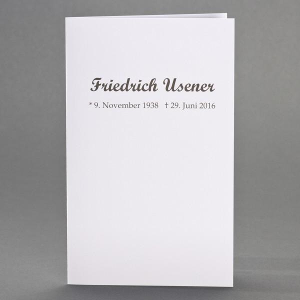 Trauerkarte Blanko Doppelkarte Variante 2 inkl. passendem Briefumschlag